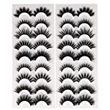 Newcally Lashes False Eyelashes 18 Pairs Faux Mink Lashes Pack Dramatic Fluffy Wispy Natural Mixed 9 Styles Fake Eye Lashes Multipack