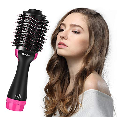 Hot Air Brush, CkeyiN One Single Step Hair Dryer and Volumizer Professional Salon Styling Tools & Appliances Blow Dryer Styler Brush for All Hair Type