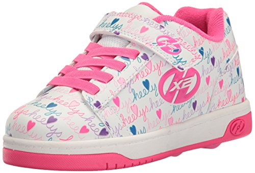 Heelys Dual Up, Zapatillas para niñas, Blanco (White / Pink...