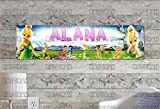 KATONAH Customized Name Painting Tinkerbell Poster with Your Name On It Personalized Banner