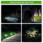 Claoner 32 LED Solar Landscape Spotlights, Wireless Waterproof Solar Landscaping Spotlights Outdoor Solar Powered Wall Lights for Yard Garden Driveway Porch Walkway Pool Patio- Cold White(2 Pack) Must Have at Night