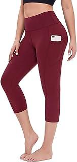 Gayhay High Waist Capri Yoga Pants with Pockets for Women - Tummy Control Soft 4 Way Stretch Workout Leggings