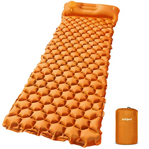 AirExpect Camping Sleeping Pads with Built-in Pump - Upgraded Inflatable Camping Pd with Pillow for...