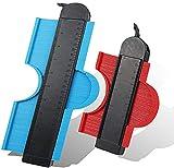 Contour Gauge Duplicator,flowlamp Contour Gauge with Lock,Profile Gauge,Shape Duplicator, 10-Inch &5-Inch, 2 Pack Master Outline Measuring for Corners, Woodworking Templates, Tiles and Laminate