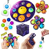 RaxDabby Planet Simple Dimple Fidget Popper Toys, Planets for Kids Solar System Toys, A Simple Dimple Fidget Toy Pack for Kids Stress Relief Anti-Anxiety ADHD-6Pcs