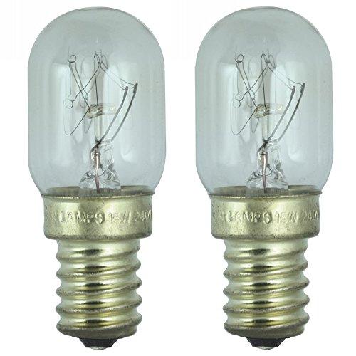 Lot de 2 - Lampe de réfrigérerateur 15W pour usage dans un frigo Smeg. 240v. Ampoule à SES (E14) petit vis Edison