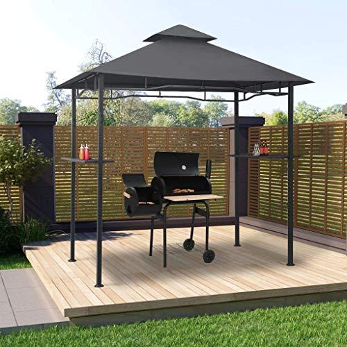 LXDDP Grillpavillon/Grillpavillon mit Regalen 240x150x255 cm Stahl