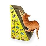Rascador de Carton Para Gatos,Rasguño de Gato Cartón Corrugado Gatos Juguete Para Dormir Para Moler el Masaje del Cuerpo de la Garra Alfombra Rascador Para Gatos Cat Scratch Board(Patrón Aleatorio)