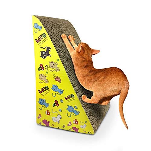 Cat Scratch Pad,Tiragraffi con Erba Gatta,Carta Ondulata Tiragraffi con Erba Gatta Giocattolo Gatto Addormentato per Macinare il Resto del Massaggio del corpo Gratta e Vinci Gatto(Pattern Casuale)