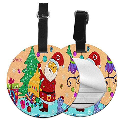 Luggage Tags Santa Gift Owl Tree Suitcase Luggage Tags Business Card Holder Travel Id Bag Tag