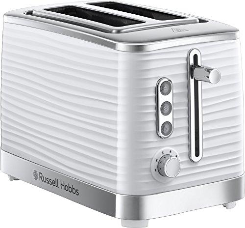 Russell Hobbs 24370 White Inspire High Gloss Plastic Two Slice Toaster