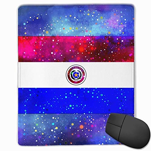 Alfombrilla de ratón Bandera de Paraguay Starry Flag Gaming Alfombrilla de ratón Diseño Personalizado Antideslizante 25 x 30 x 0.3 CM