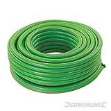 13 mm de anchura,PVC reforzado 15 metros de largo Anti UV. hilo de poliester verde Manguera verde para jardin