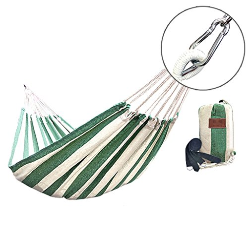 Y/d/j/ Ultra Light Camping Hammock With, Multi-purpose Covered Hammock Portable Travel Hammock Can Bear 400 Pounds (green White) (Size : S)