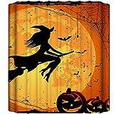 Cabilock Fiesta de Halloween Cortina de Ducha Calabaza Decoración de Baño Suministros de Fiesta de Baño de Halloween