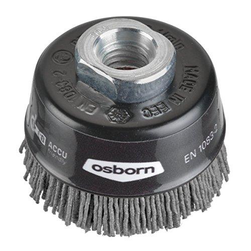 Osborn 6802613891 NEUHEIT Topfbürste für Akku-Winkelschleifer 60 mm, Schwarz