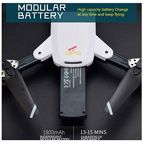 HHoo High Capacity 3.7V 1800mAh Lipo Battery for IDEA 10 YG-19G GPS RC Quadcopter Drone, Replacement Accessories Best Gift for Boys Kids Men