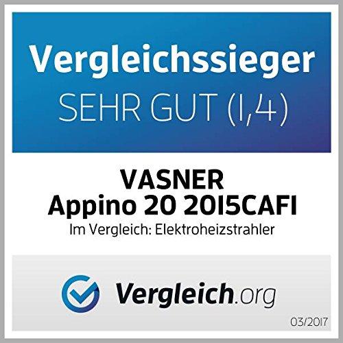 VASNER Infrarotstrahler Appino 20 silber, Terrassenstrahler mit AirCape Abdeckhaube für Außenbereich, 2000 Watt, Fernbedienung, App-Bedienung - 2