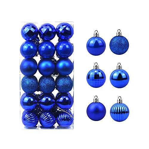 Feliciay 36pcs Christmas Ball Baubles Assorted Pendant...