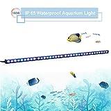 TOPLANET 180w Luz Acuario Led Tira Pecera Led Azul Iluminación Impermeable...