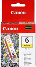 Canon BCI-6 Yellow Ink Tank Compatible to iP8500, iP6000D, iP5000, iP4000R, iP4000, iP3000, i9900, i9100, i960, i950, i900...