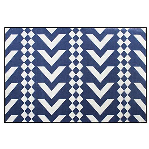 Zona-voetmateriaal voor kinderen, antislip, blauw en wit (120 x 170 cm)