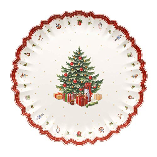 Toy's Delight Serving Platter by Villeroy & Boch - Perfect for Christmas Cookies and Holiday Treats -Premium Porcelain - Dishwasher Safe - 17.5 Inches