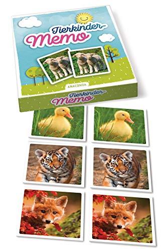 Price comparison product image Tierkinder-Memo: 40 Spielkarten im Spielkarton