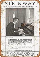 スタインウェイピアノ、ブリキサインヴィンテージ面白い生き物鉄の絵の金属板ノベルティ