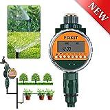 FIXKIT Digitaler Wassertimer mit Regensensor, Bewässerungsuhr IP68 Wasserdichter LCD Bildschirm,...