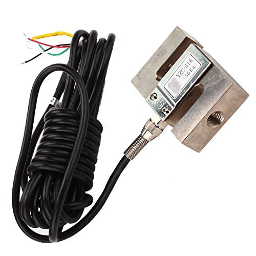 LYWS Wägezellen-Gewichtungssensor mit Kabel, wasserdicht, S-Typ 50KG