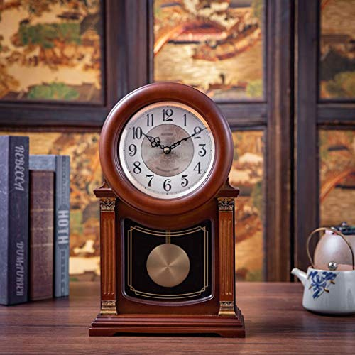 zlw-shop Decorativo Reloj Reloj de Estudio de Dormitorio Vintage de 10 Pulgadas 1 Hora Reloj Cuarto Europeo Silent Reloj de Cuarzo Reloj de Mesa (Color : B)
