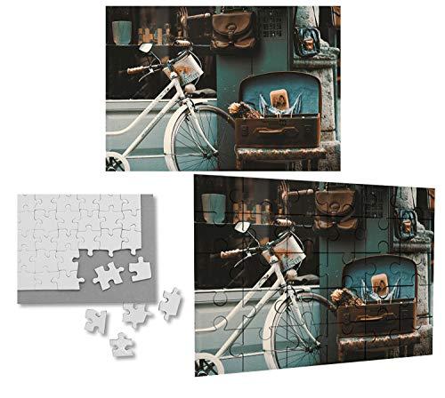 PUZZLE CON 30 PIEZAS BICICLETA VINTAGE RETRO SIGLO 19 rompecabezas educativo puzle