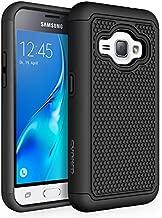 Galaxy Luna Case, Galaxy Amp 2 Case, Galaxy Express 3 Case, J1 2016 Case, SYONER [Shockproof] Defender Phone Case Cover for Samsung Galaxy J1 2016 / Amp 2 / Express 3 / Galaxy Luna [Black/Black]