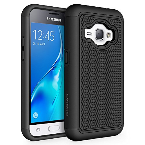 Galaxy Luna Case, Galaxy Amp 2 Case, Galaxy Express 3 Case, J1 2016 Case, SYONER [Shockproof] Defender Phone Case Cover for Samsung Galaxy J1 2016 / Amp 2 / Express 3 / Galaxy Luna [Black/Black]