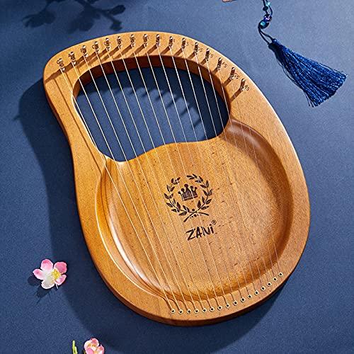 Tyfiner Arpa De Lira 19 Cuerdas Caoba Arpa Pequeña Portátil Instrumento Portátil de 16 Cuerdas para Principiantes para Amantes De La Música Principiantes Niños Adultos,006,16 Strings