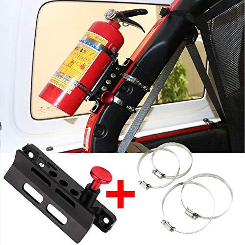 (1 Year Warranty) Universal Vehicle Quick Release Adjustable Fire Extinguisher Mount Holder For Jeep Wrangler and UTV Polaris RZR Ranger Camper Van with Pillar