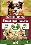 SmartBones Pollo Huesos masticables Mini para perros, 18 piezas