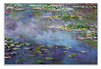 Monet Wall Art Collection Water Lilies 1906 02 by Claude Monet Canvas Prints Wrapped Gallery Wall Art  Ready to Hang 12X18 59MONET