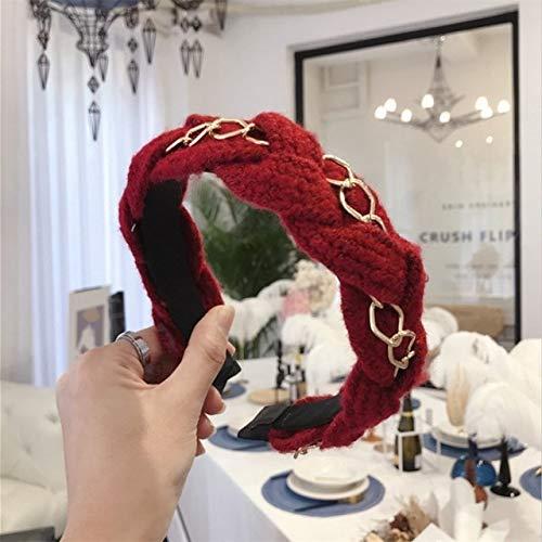 TSEINCE haaraccessoires vrouwen legering keten gevlochten vlechten breedgerande hoofdband hoofdband meisje haarband hoofddeksels