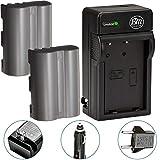 BM Premium 2 Pack of EN-EL3e Batteries and Battery Charger for Nikon D50, D70, D70s, D80, D90, D100, D200, D300, D300S, D700, D900 Digital SLR Camera