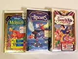 The Little Mermaid (Special Edition), The Rescuers, Snow White And The Seven Dwarfs (3 VHS Tapes)