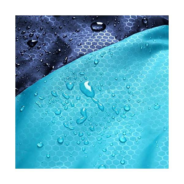 SONGMICS Saco de Dormir Grande con Bolsa de Compresión, Temperatura Ideal 5-15°C, 3-4 Estaciones, Fácil de Llevar… 2