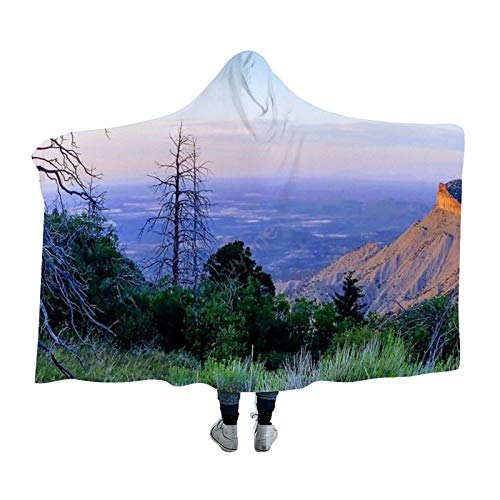 YYone Hooden Blanket Throw for Adults & Kids Snaggletree Sunset at Mesa...