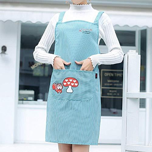 LYDCX (2 Stücke Küchenschürze Weibliche Erwachsene Hausmannskost Taille Weste Stil Tee Shop Backshop Schürze Blau