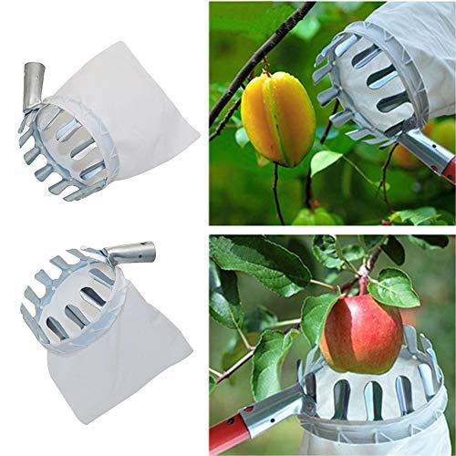 MINGMIN-DZ Durable 1pc Fruta del Metal Selector de Tela Conveniente Bolsa de Apple melocotón Pera Naranja Recogiendo Herramienta for el jardín Orchard Farm Fruit Suministros Picking