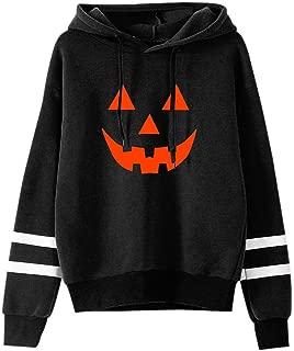 NANTE Top Loose Women's Blouse Halloween Print Hoodie Round Neck Sweatshirt Long Sleeved Pullover Ladies Tops Shirt Clothes