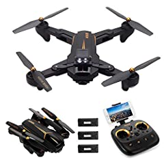 Functions: Foldable, 4CH, altitude hold, one key take off/landing, WiFi FPV, headless mode, auto return, waypoint fly, surround flight, Follow me. 5G WiFi 1080P camera enables you to have a further real-time images transmission image for fantastic vi...