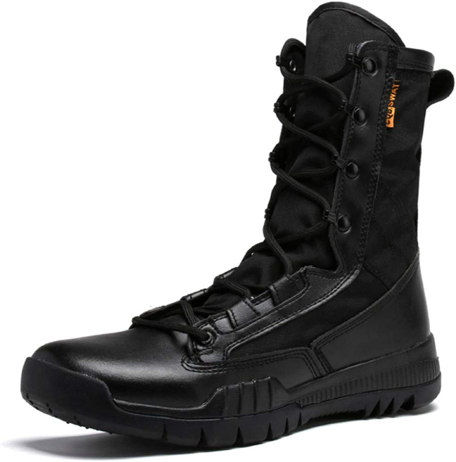 Mens Outdoor Desert Martin Leather shoes Comfortable Breathable Armed Tactics Footwear High Top Military Army Combat Boots