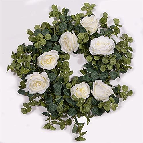 ZYYYYY Garland Plantas Rose Ivy para casa Body Party Garden Decoración de artesanía Interior y al Aire Libre